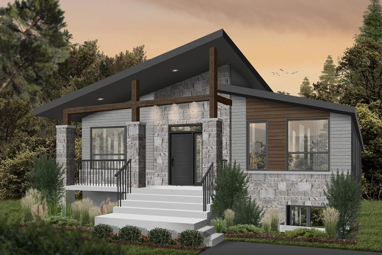 Contemporary House Plan - Aika 98305 - Front Exterior