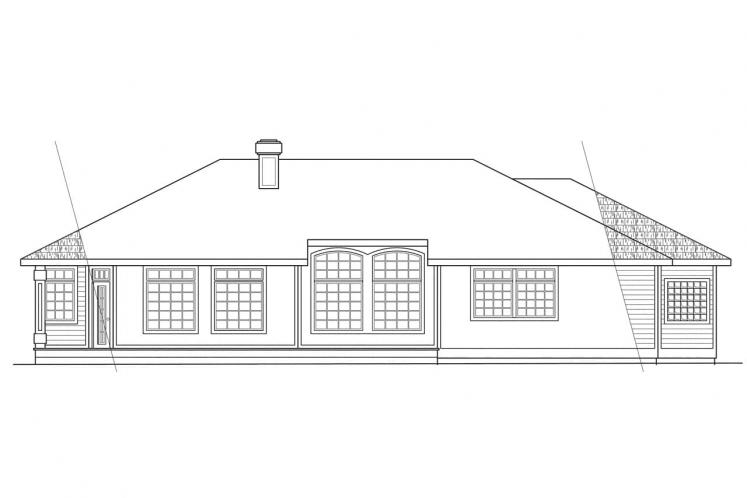 Traditional House Plan - Jamison 98316 - Rear Exterior