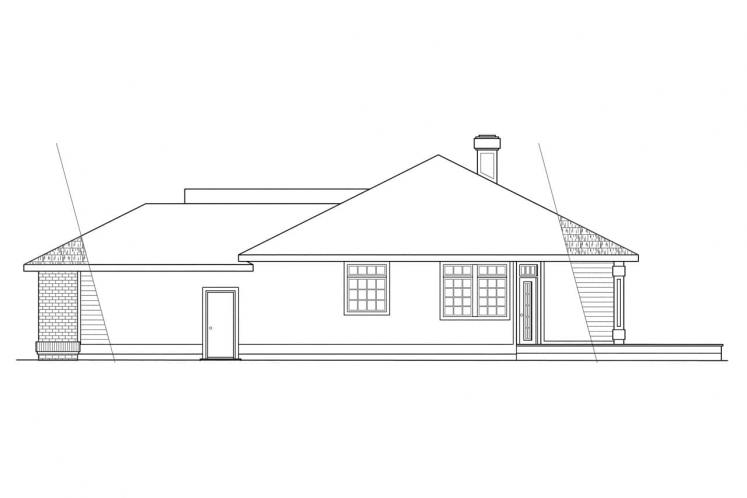 Traditional House Plan - Jamison 98316 - Right Exterior