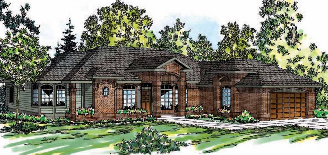 Ranch House Plan - Jamison 98316 - Front Exterior