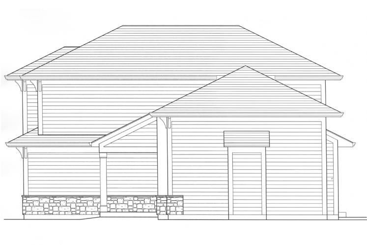 Craftsman House Plan - Cottage Grove 98378 - Right Exterior