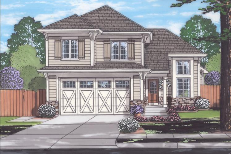 Craftsman House Plan - Cottage Grove 98378 - Front Exterior