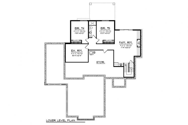 Modern House Plan -  98399 - Basement Floor Plan