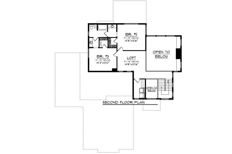 Prairie House Plan -  98399 - 2nd Floor Plan