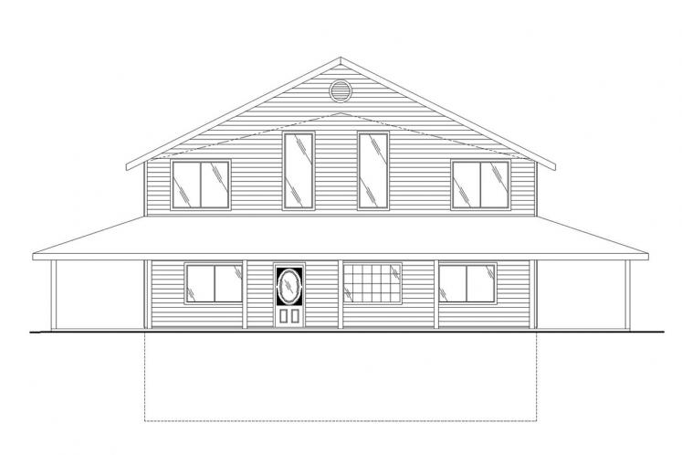 Country House Plan -  98455 - Front Exterior