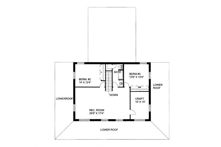 Country House Plan -  98455 - 2nd Floor Plan
