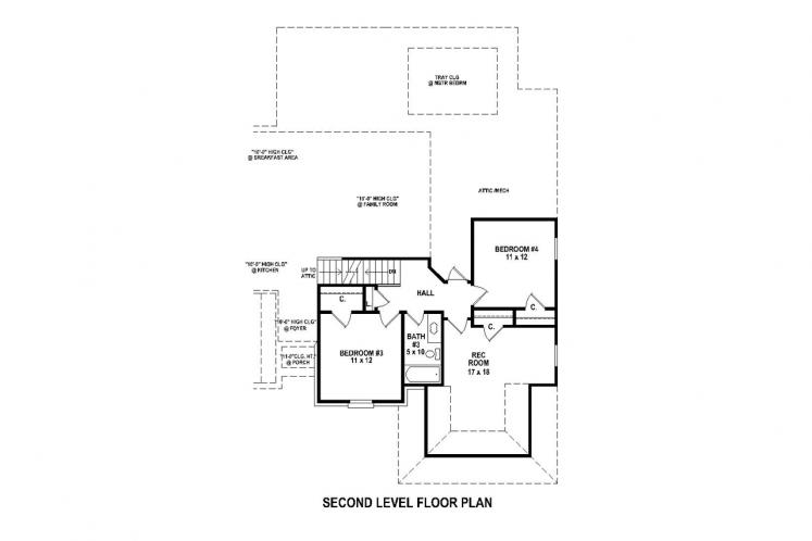 Traditional House Plan -  98504 - 2nd Floor Plan