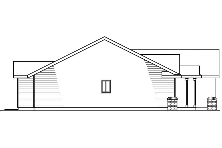 Ranch House Plan - Walsh 98840 - Left Exterior