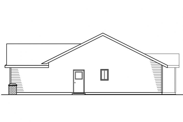 Traditional House Plan - Walsh 98840 - Right Exterior