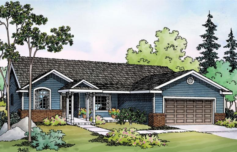 Traditional House Plan - Walsh 98840 - Front Exterior