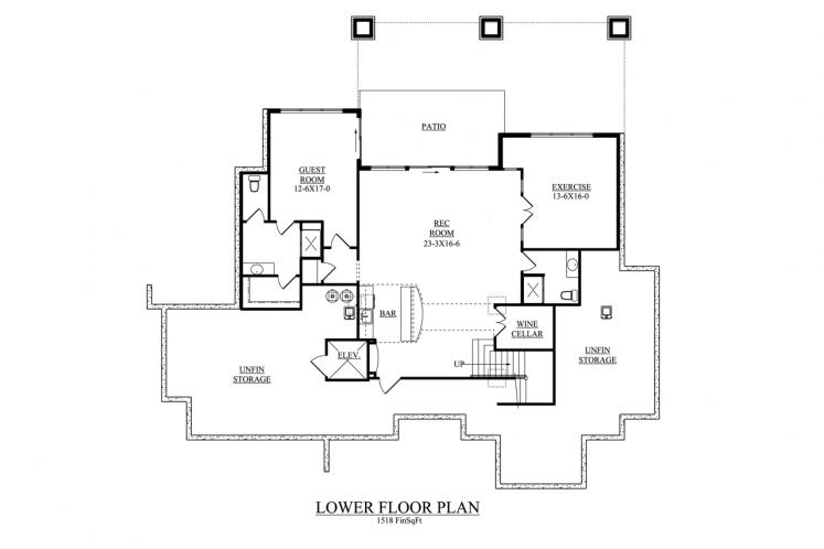 Lodge Style House Plan - Northern 98949 - Basement Floor Plan