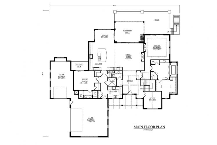 Craftsman House Plan - Northern 98949 - 1st Floor Plan