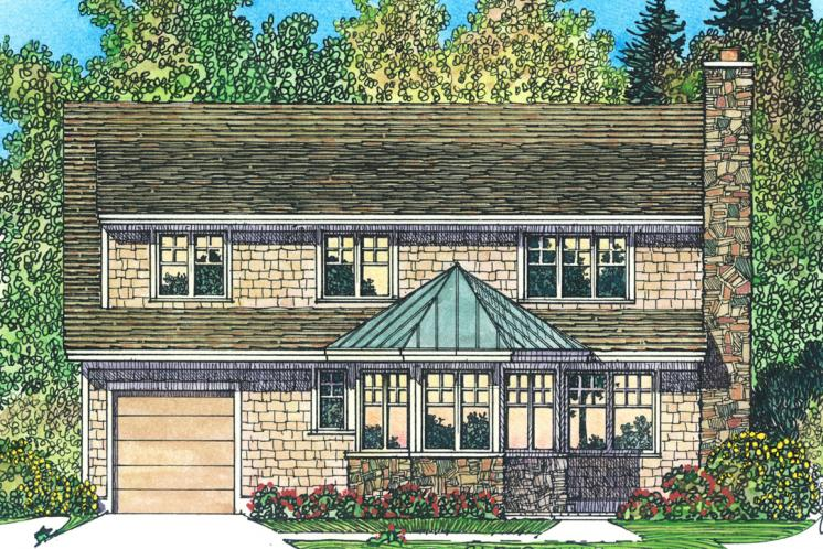 Cottage House Plan -  98957 - Rear Exterior