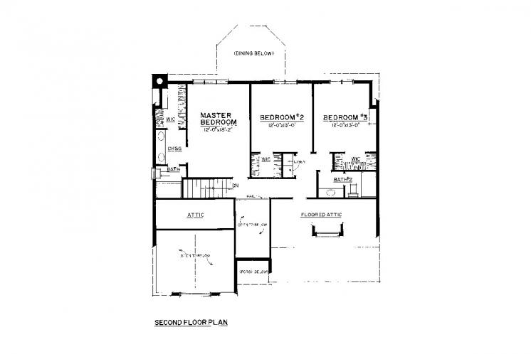 Craftsman House Plan -  98957 - 2nd Floor Plan
