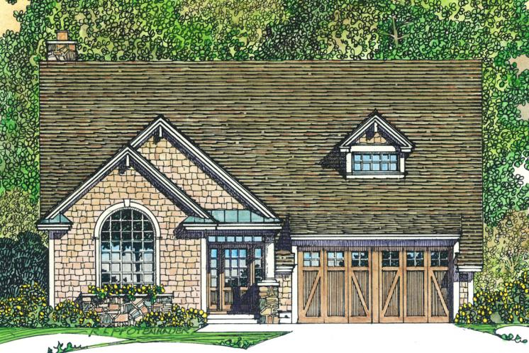Craftsman House Plan -  98957 - Front Exterior