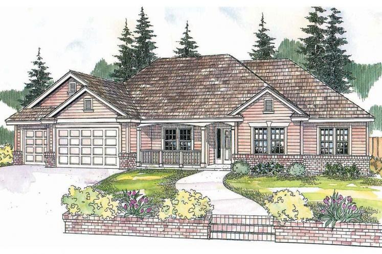 Ranch House Plan - Pleasanton 99008 - Front Exterior