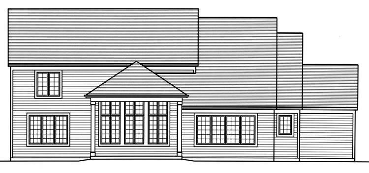 Traditional House Plan - The Greenbriar 99069 - Rear Exterior