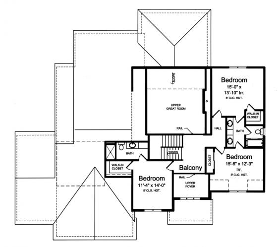 Traditional House Plan - The Greenbriar 99069 - 2nd Floor Plan