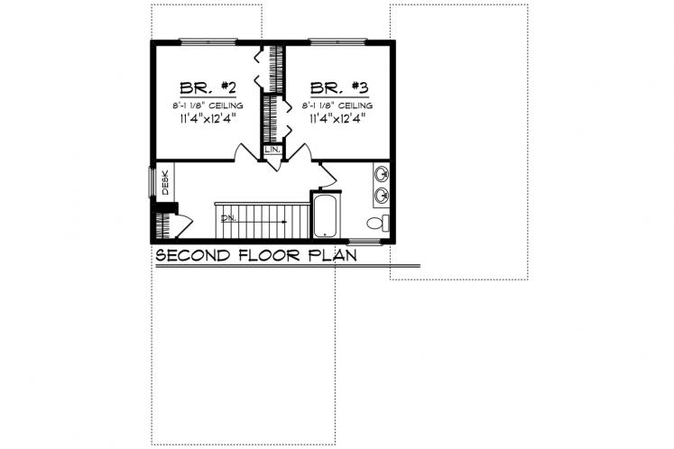 Traditional House Plan -  99086 - 2nd Floor Plan