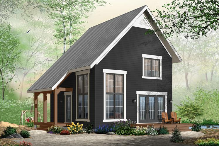 A-Frame House Plan - Willowgate 99089 - Front Exterior