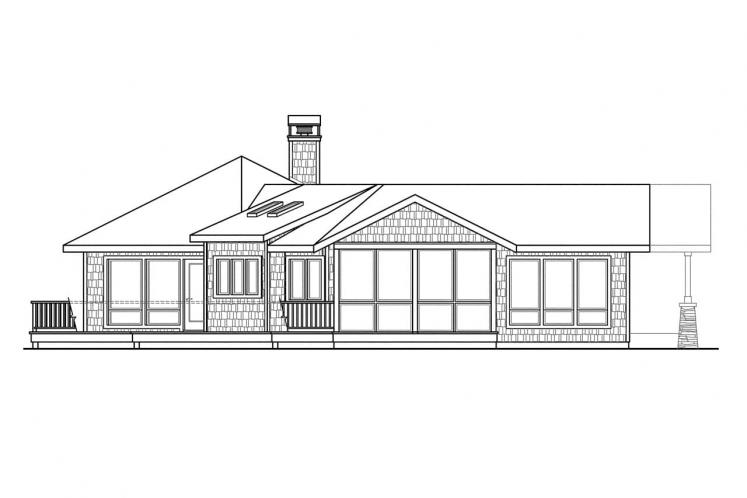 Ranch House Plan - Sand Point 99173 - Left Exterior