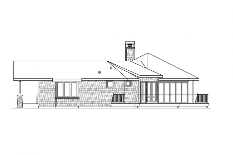 Lodge Style House Plan - Sand Point 99173 - Right Exterior