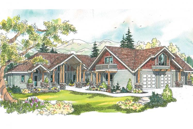 Craftsman House Plan - Missoula 99305 - Front Exterior