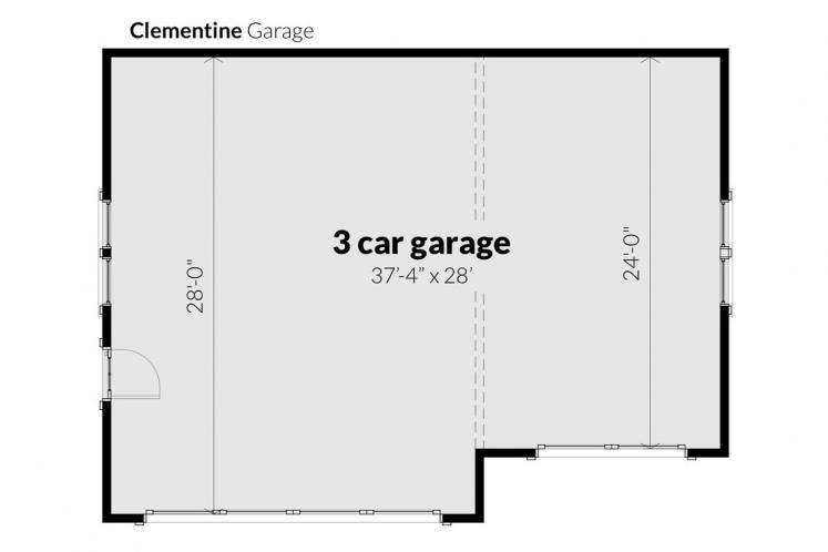 Farmhouse Garage Plan - Clementine Garage 99410 - 1st Floor Plan