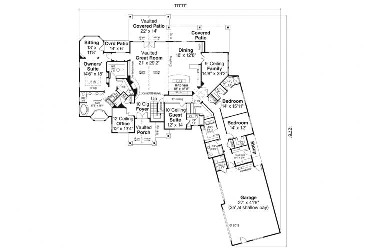 Ranch House Plan - Concord 99415 - 1st Floor Plan