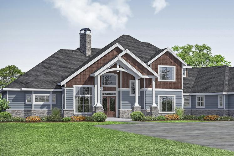 Craftsman House Plan - Concord 99415 - Front Exterior