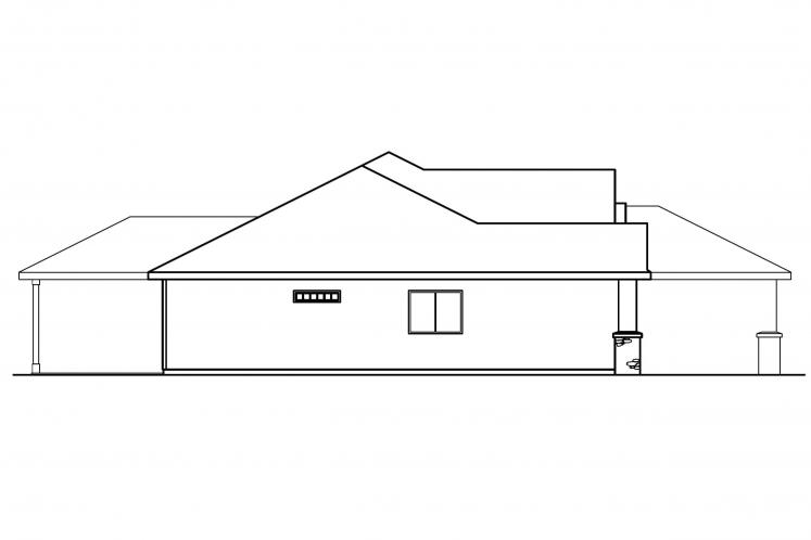 Ranch House Plan - Clearfield 99485 - Left Exterior