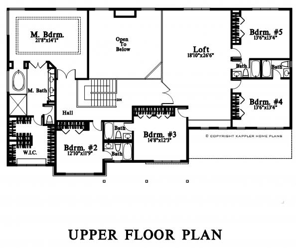Modern House Plan -  99610 - 2nd Floor Plan