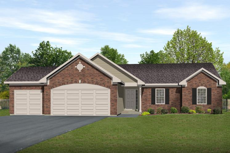 Ranch House Plan -  99616 - Front Exterior