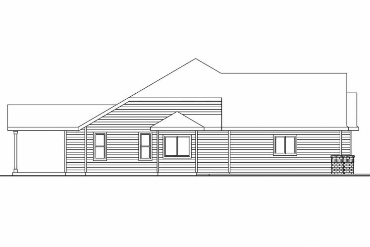 Traditional House Plan - Windsor 99645 - Left Exterior