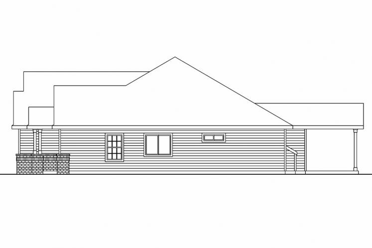 Ranch House Plan - Windsor 99645 - Right Exterior