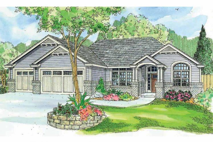Ranch House Plan - Windsor 99645 - Front Exterior