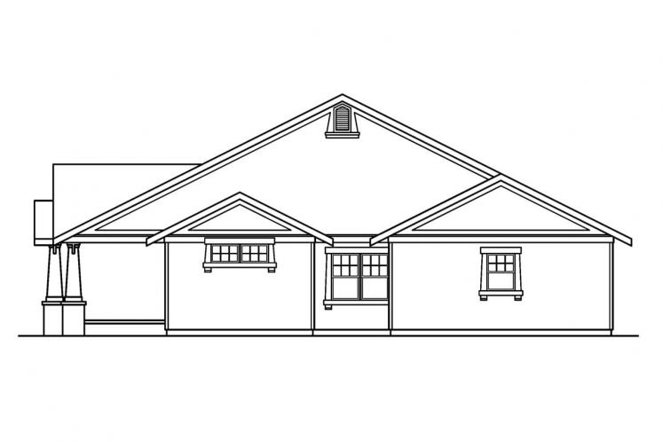 Cottage House Plan - St. Clair 99703 - Right Exterior