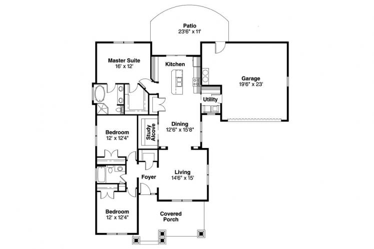 Country House Plan - St. Clair 99703 - 1st Floor Plan