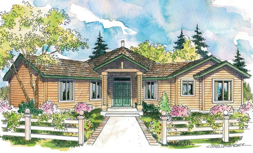 Contemporary House Plan - Forsythia 99736 - Front Exterior