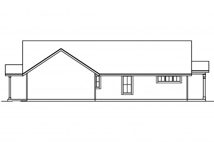 Ranch House Plan - Evelyn 99750 - Left Exterior