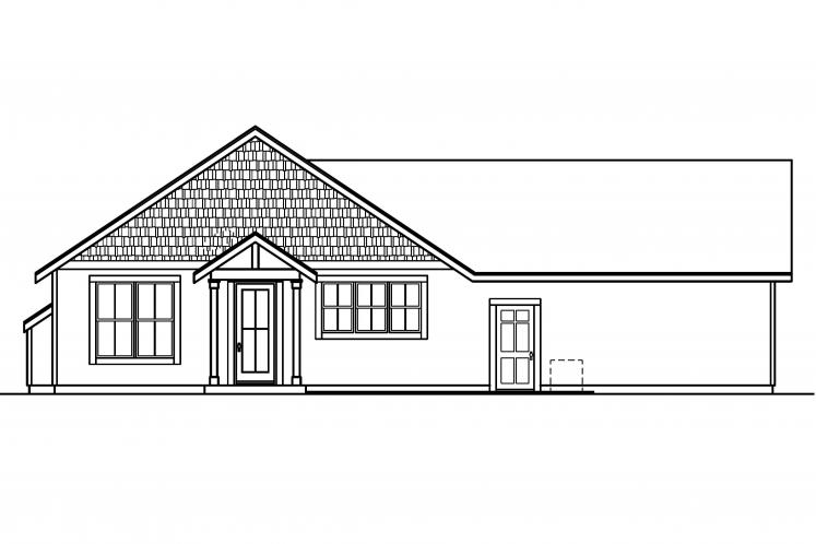 Cape Cod House Plan - Evelyn 99750 - Rear Exterior