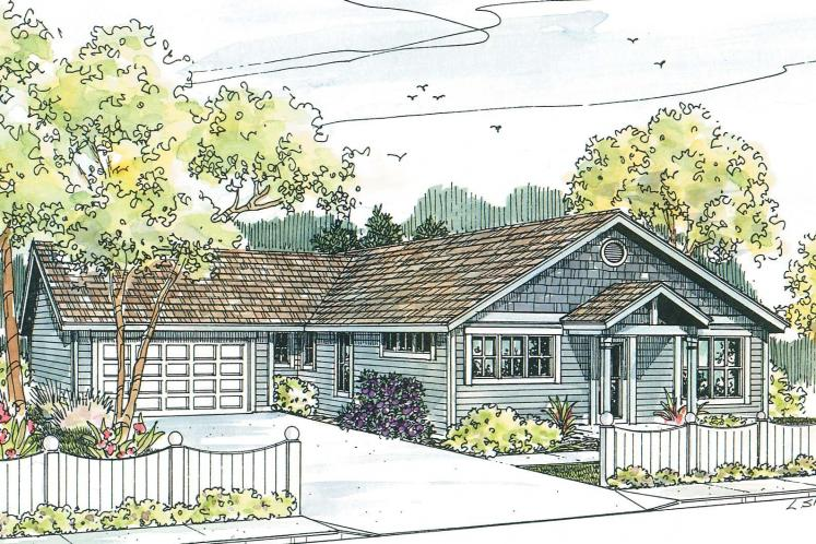 Craftsman House Plan - Evelyn 99750 - Front Exterior