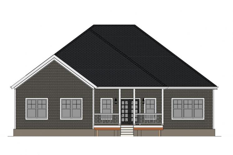 Ranch House Plan - Jameson 99795 - Rear Exterior