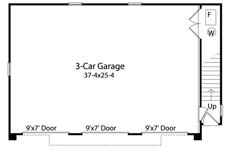 Traditional Garage Plan -  99994 - 1st Floor Plan