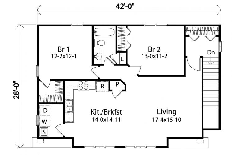 Cape Cod Garage Plan -  99994 - 2nd Floor Plan