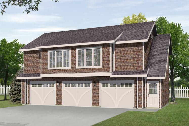 Traditional Garage Plan -  99994 - Front Exterior
