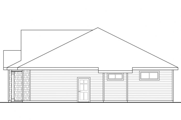 Ranch House Plan - Eastgate 29046 - Right Exterior