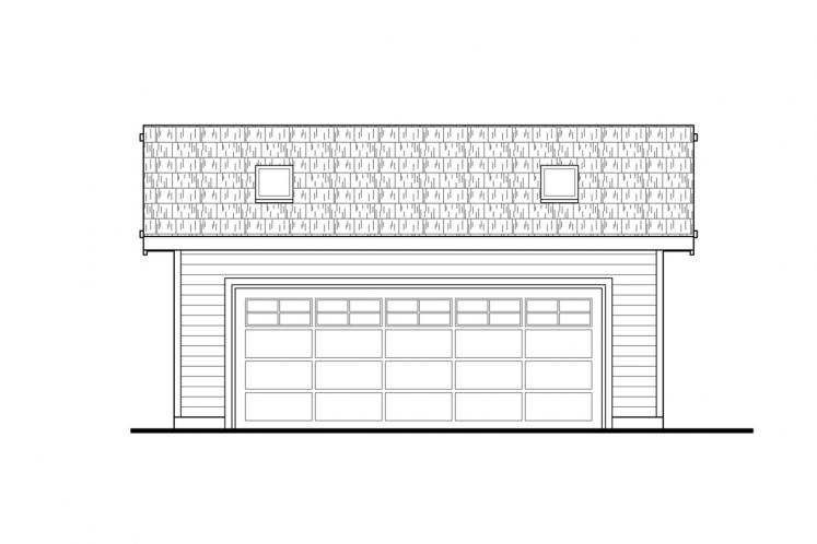 Country Garage Plan -  87989 - Front Exterior