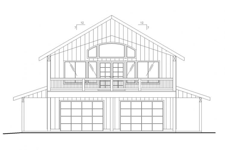 Country Garage Plan -  52380 - Front Exterior