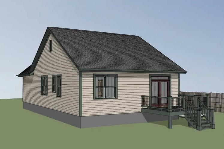 Cottage House Plan -  86393 - Right Exterior